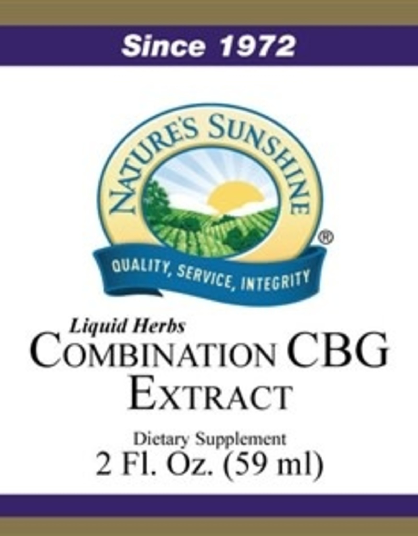 Nature's Sunshine Combination CBG Extract (2 fl. oz.)*