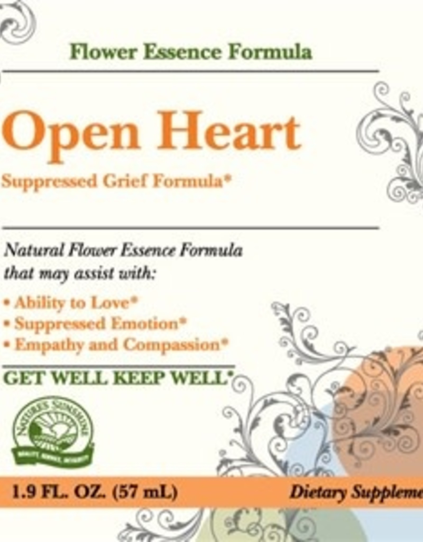 Nature's Sunshine Open Heart (Suppressed Grief Formula) (2 fl. oz.)