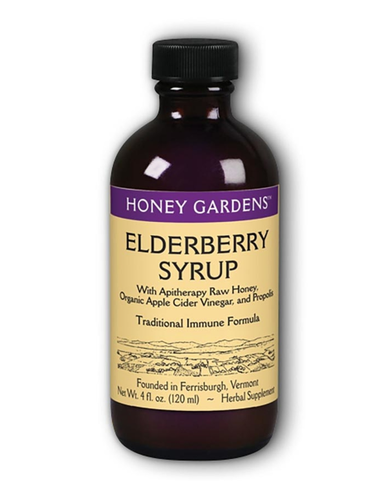 Honey Gardens Elderberry Syrup (4 oz)