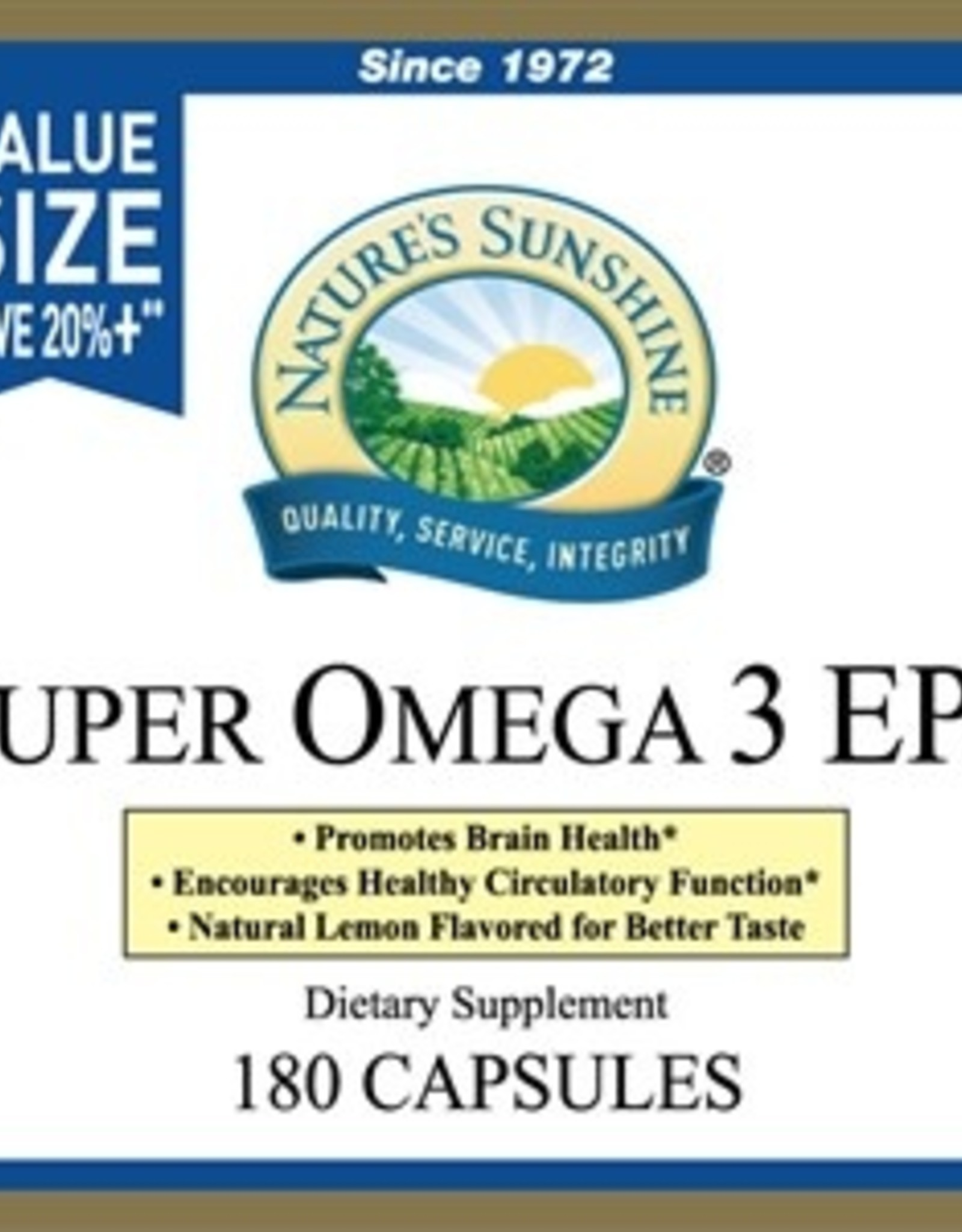 Nature's Sunshine Super Omega-3 EPA (180 softgel caps)