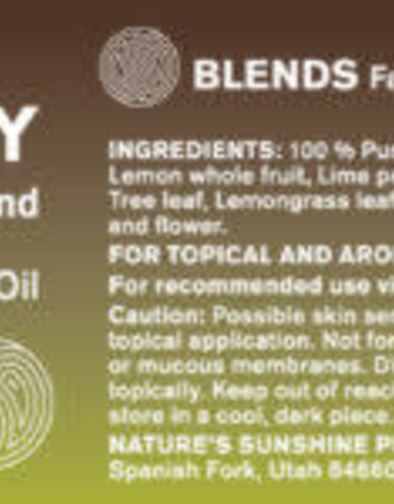 Nature's Sunshine Purity Oil Blend