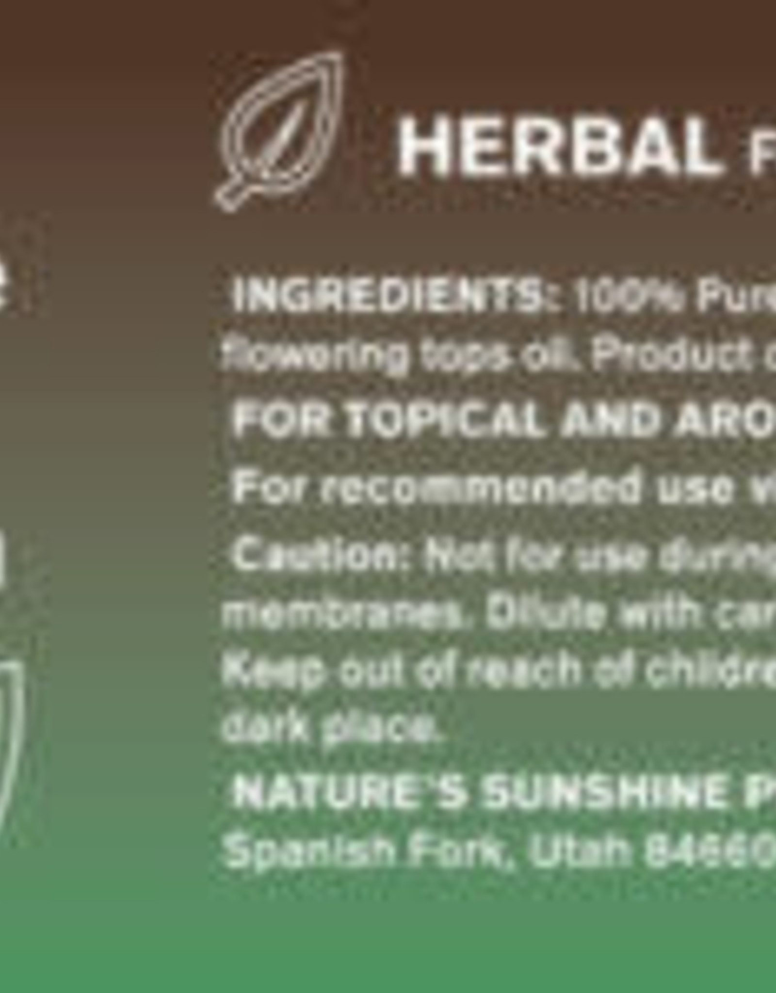 Nature's Sunshine Clary Sage Oil
