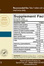 Nature's Sunshine Multiple Vit. & Mineral, SynerPro®   (60 tabs)