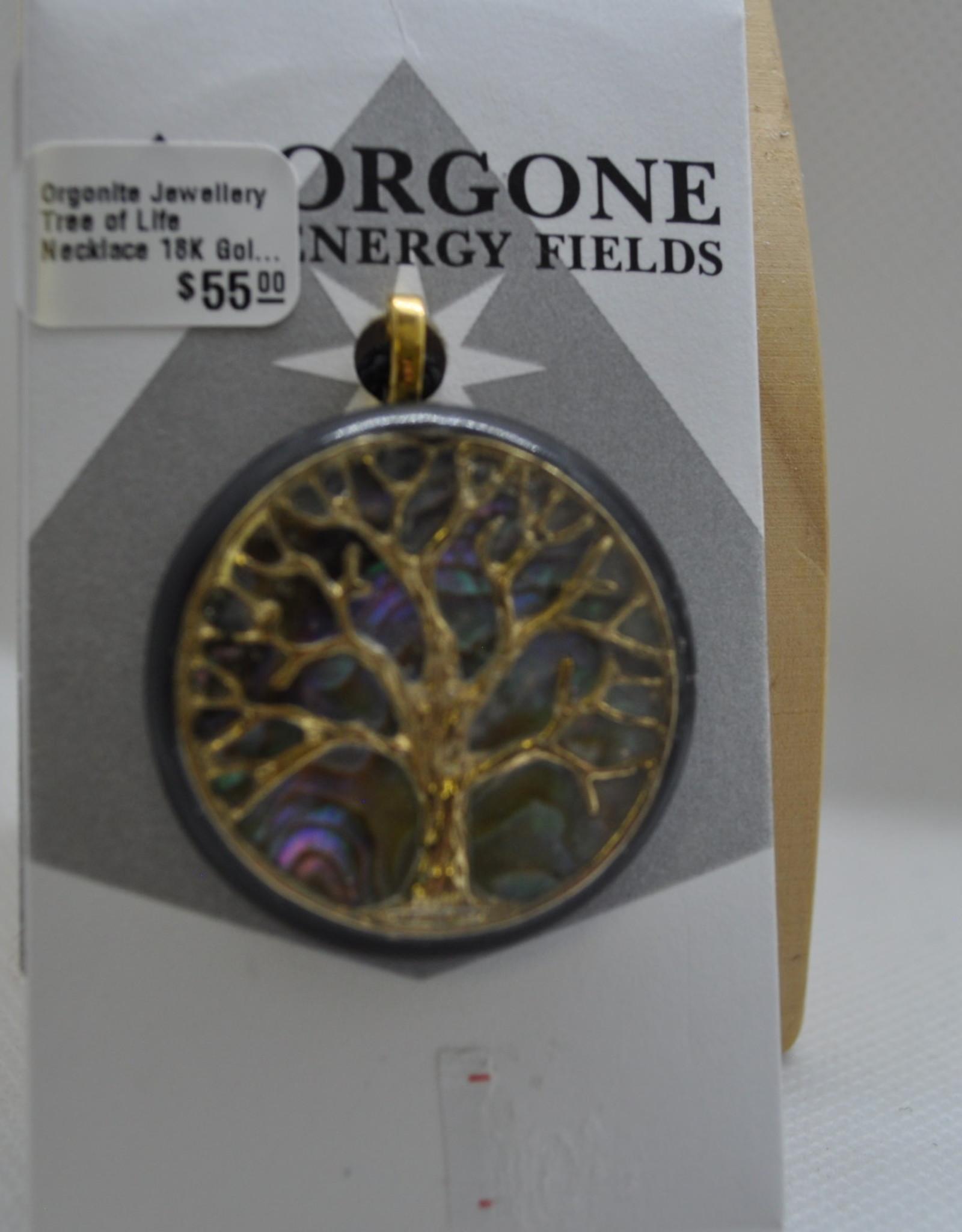 Orgone Energy Fields Tree of Life 18K Gold