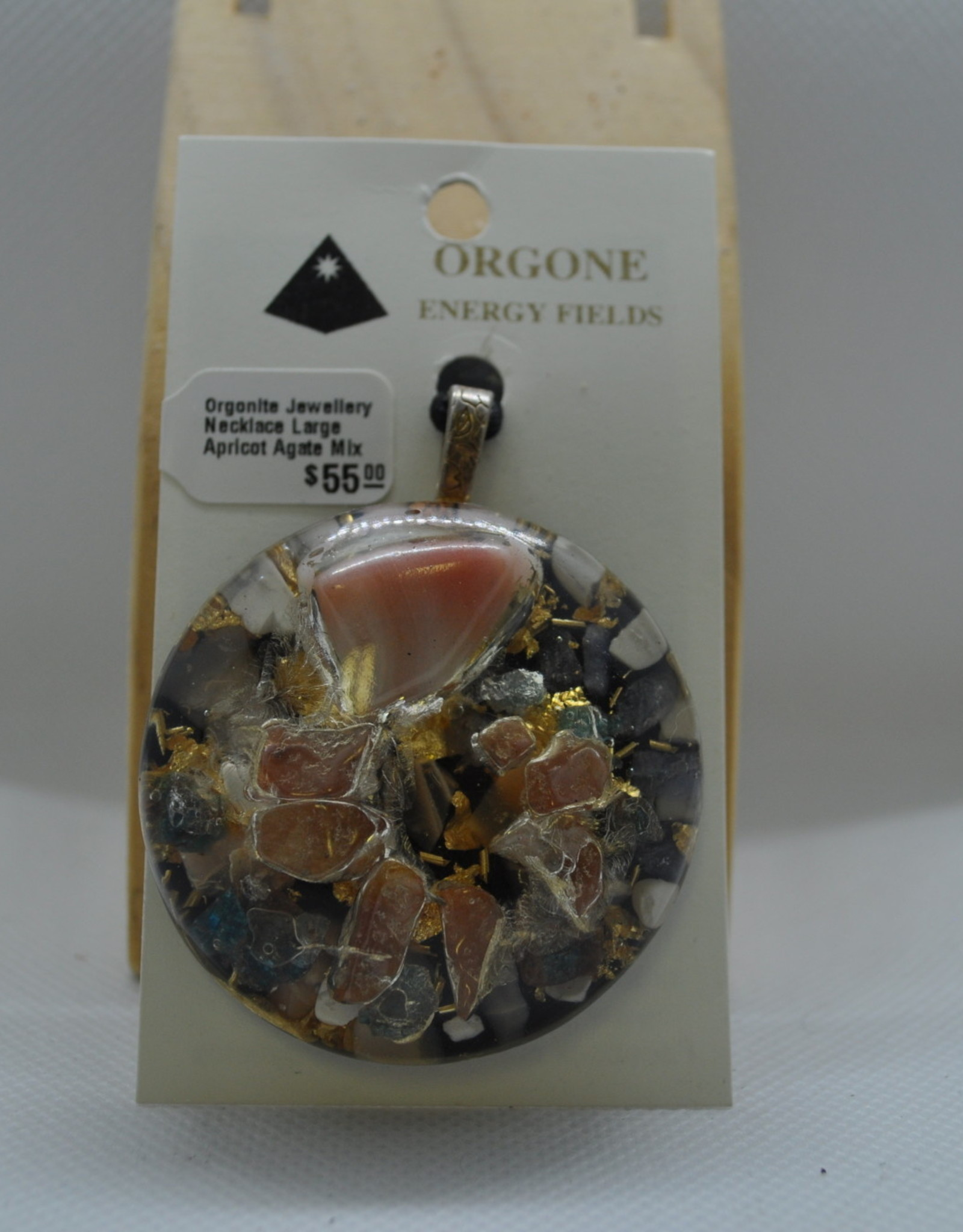 Orgone Energy Fields Large Apricot Agate Mix