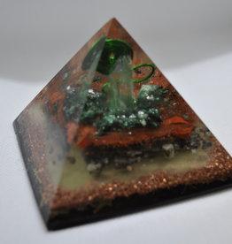 Orgone Energy Fields Green Quartz & Red Jasper Crystal
