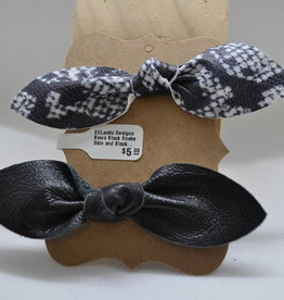 ECLectic Designs Black Snake Skin and Black Bows