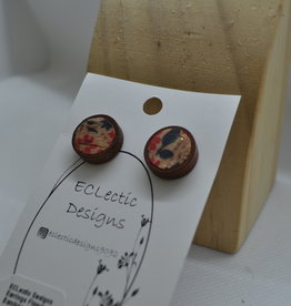ECLectic Designs Bamboo Small Circle Studs
