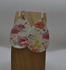 ECLectic Designs Pink Flower Teardrop