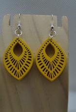 ECLectic Designs Yellow Wooden Teardrop