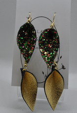 ECLectic Designs Two Mini Gold and Sequins Flower Petal
