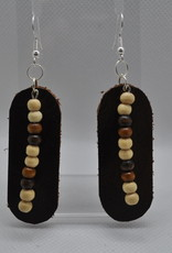 ECLectic Designs Brown Oval with Beads