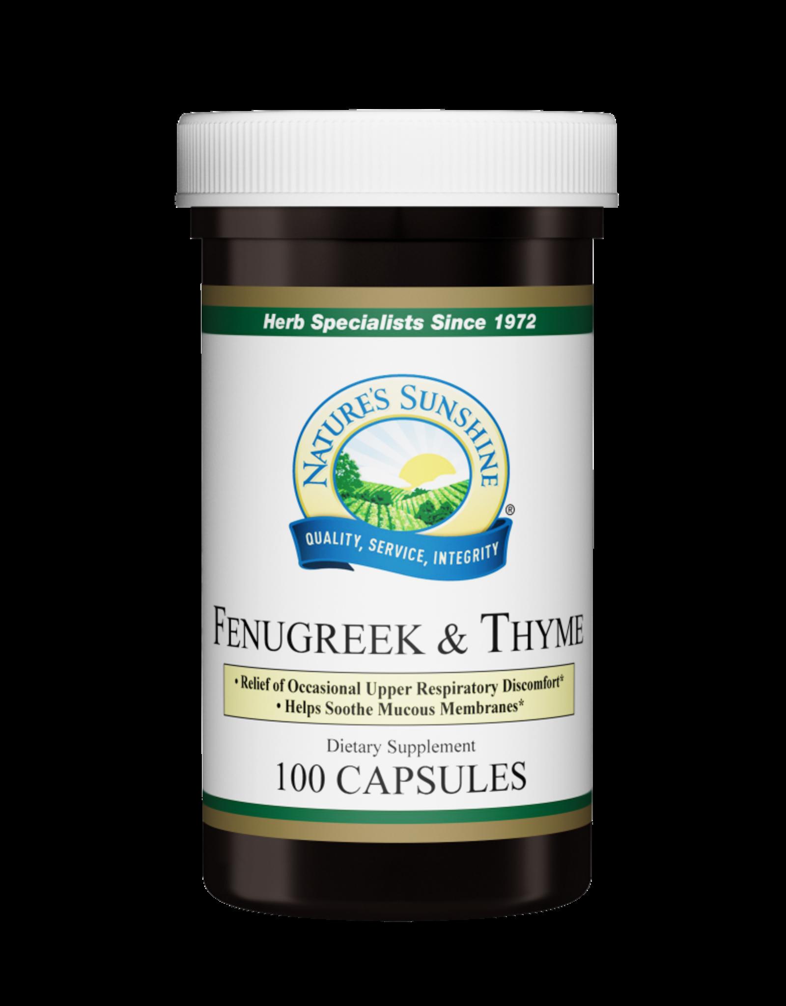 Nature's Sunshine Fenugreek & Thyme (100 caps)*