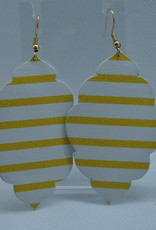 ECLectic Designs Yellow Stripe Scallop Teardrop