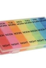 Kelli's Multi-Color 7-Day Pill Box