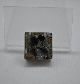 Orgone Energy Fields Orgone Cell Phone Protector   Seraphinite, Shungite, Brass Shavings