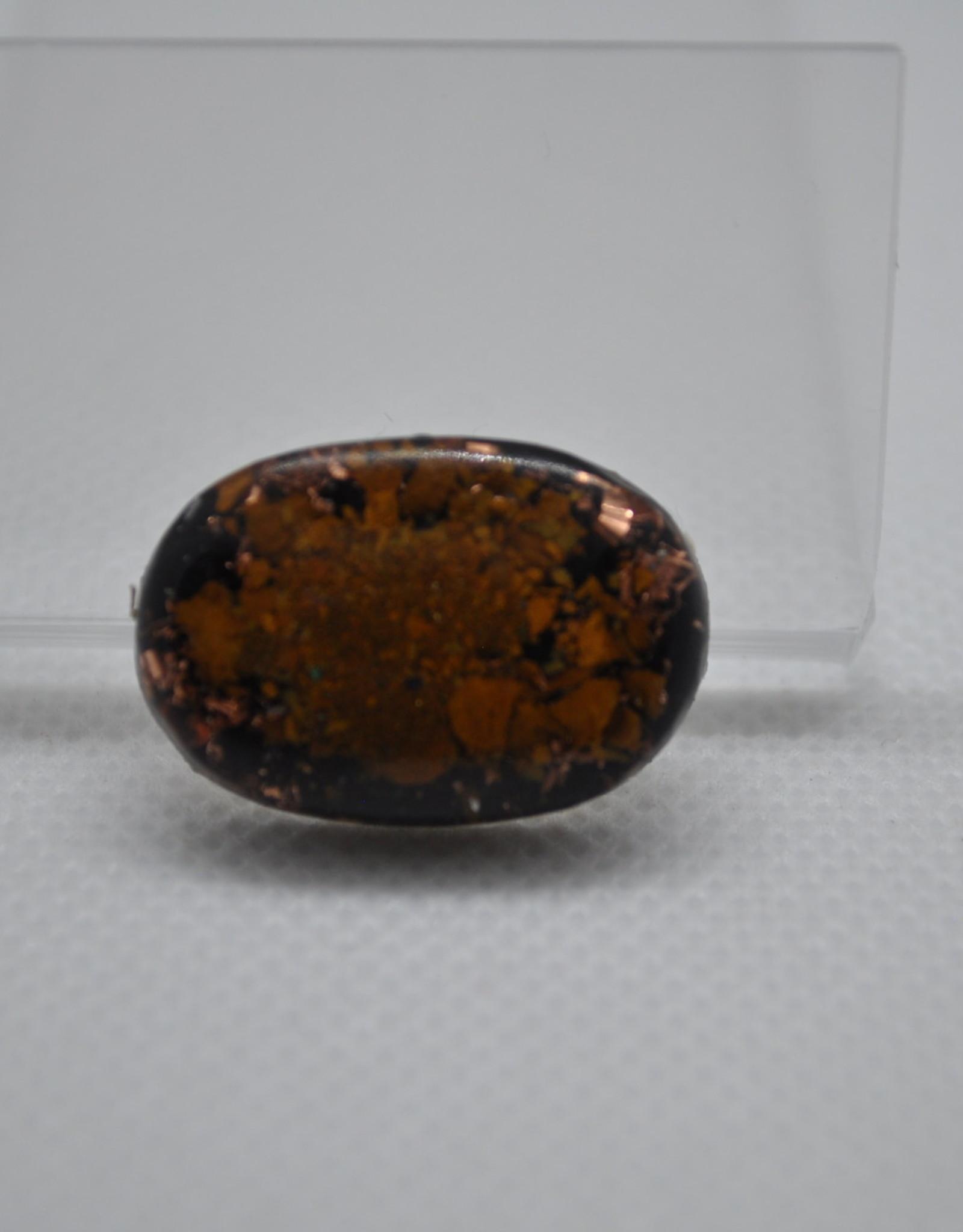 Orgone Energy Fields Orgone Cell Phone Protector   Oval Yellow Jasper, Shungite, Copper Shavings