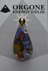 Orgone Energy Fields Orgone Pendant Yellow Agate, Lapis Lazuli Mix