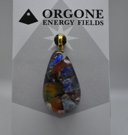 Orgone Energy Fields Orgone Pendant Yellow Agate, Lapis Lazuli Mix