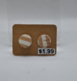 ECLectic Designs Tan and White Stripe Stud