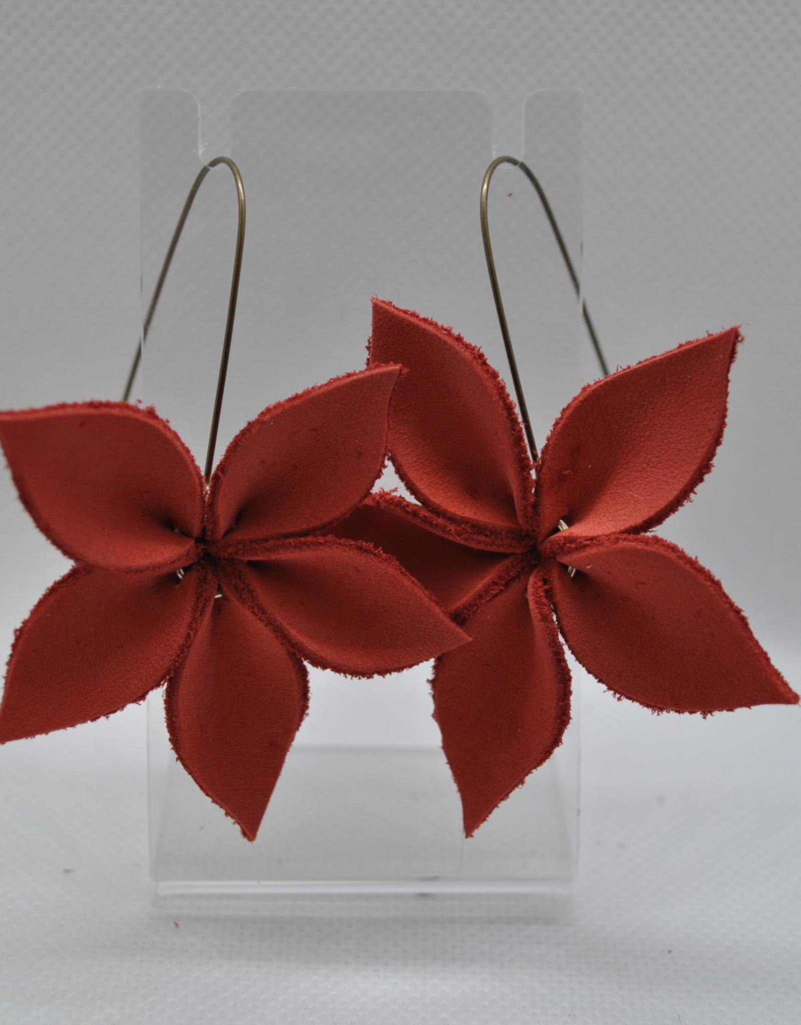 ECLectic Designs Red Flower Hoop