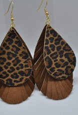 ECLectic Designs Brown and Cheetah Layered Teardrop