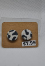 ECLectic Designs Black and White Spotted Stud