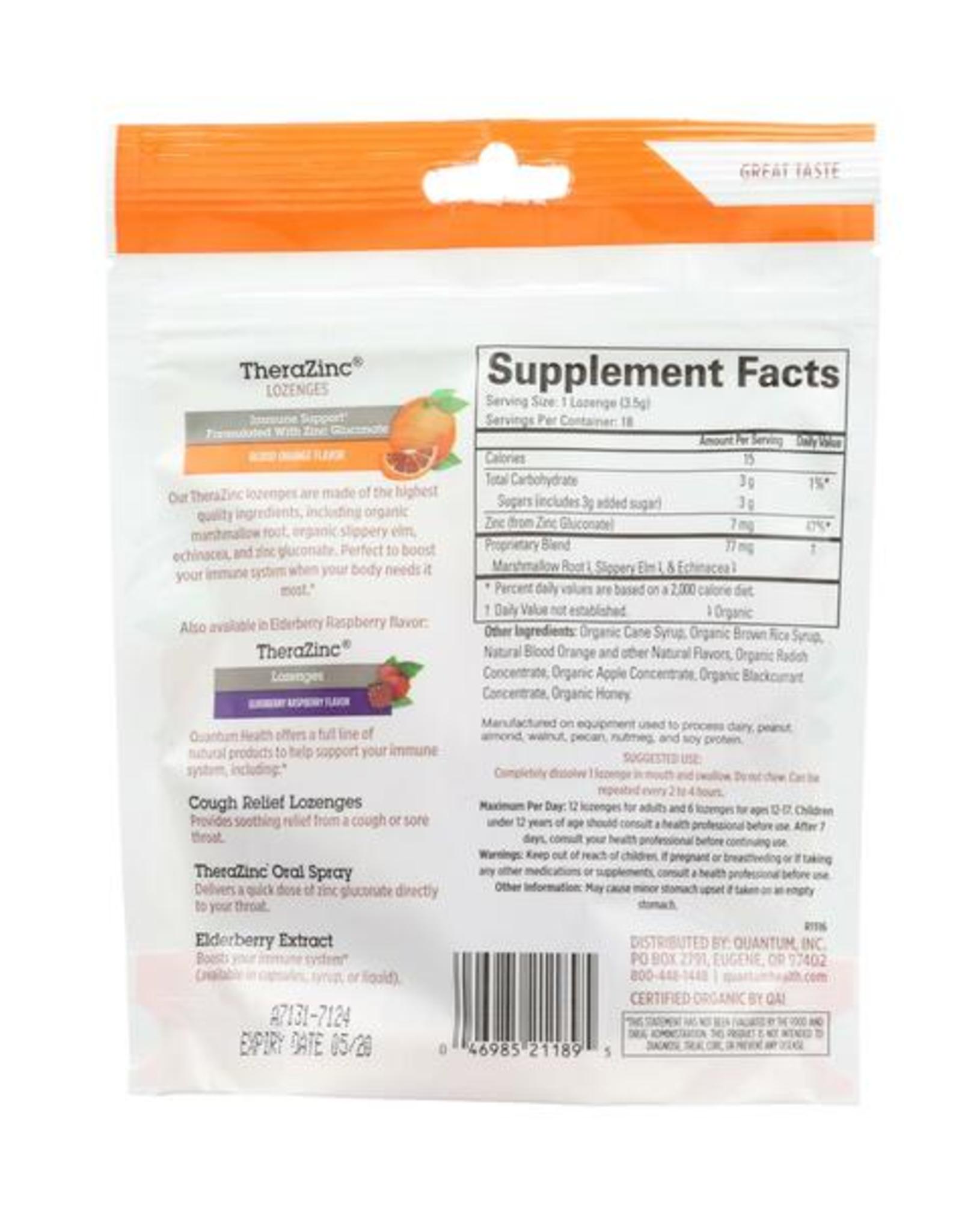 Quantum Health Zinc Lozenges Blood Orange