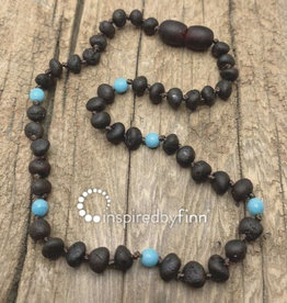 Inspired by Finn Baltic Amber Necklace -AzureMolasses unpolished 10.5 - 11.5
