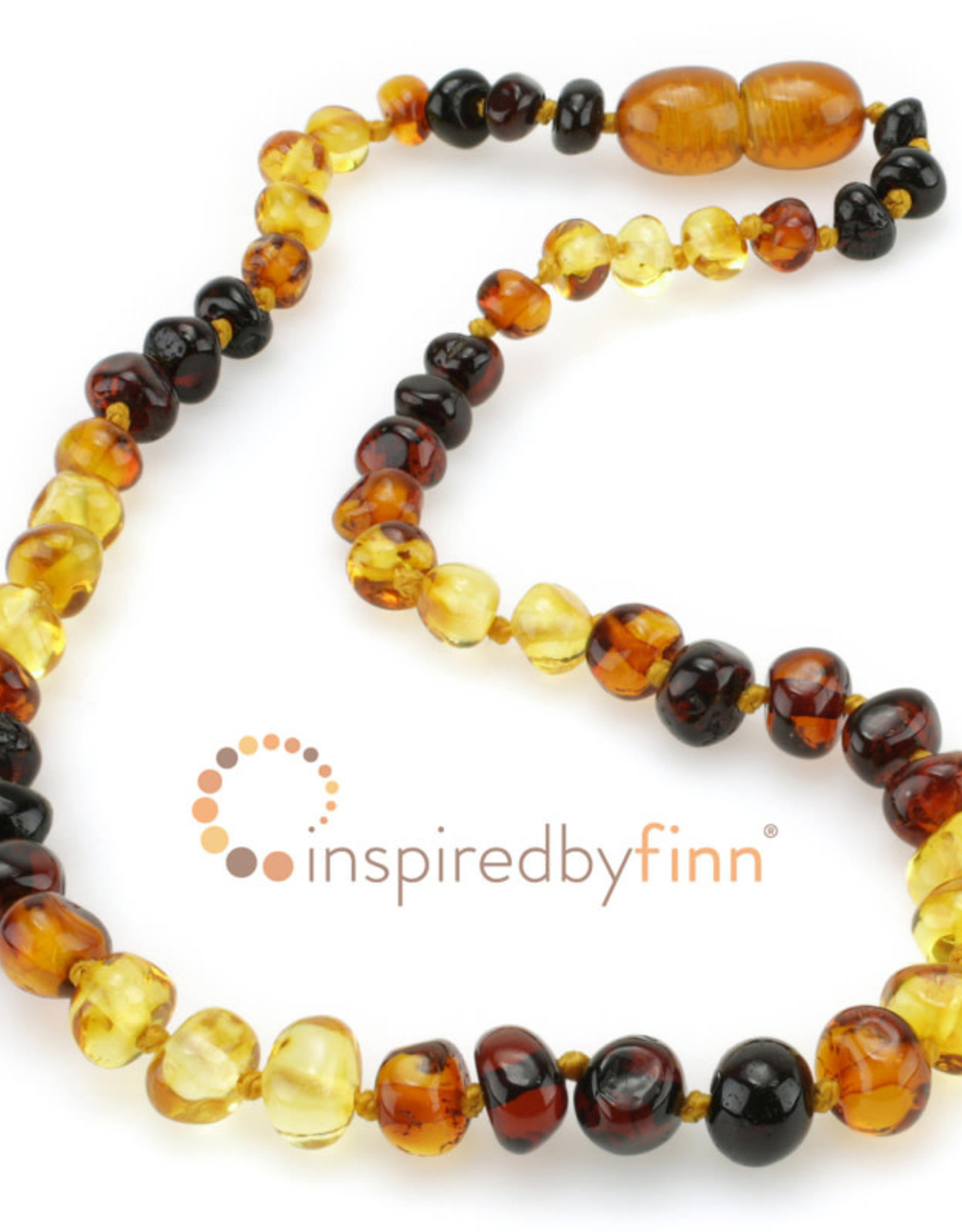 Inspired by Finn Baltic Amber Necklace - Rainbow Polished - 10.5-11.5