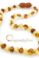 Inspired by Finn Baltic Amber Necklace - ButterHoney Polished - 10.5-11.5