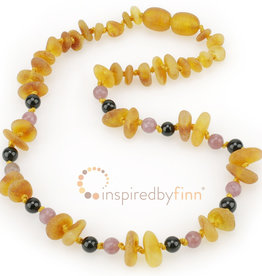 Inspired by Finn Baltic Amber Necklace - CurbsChipHarvest - unpolished - 11.5-12.5