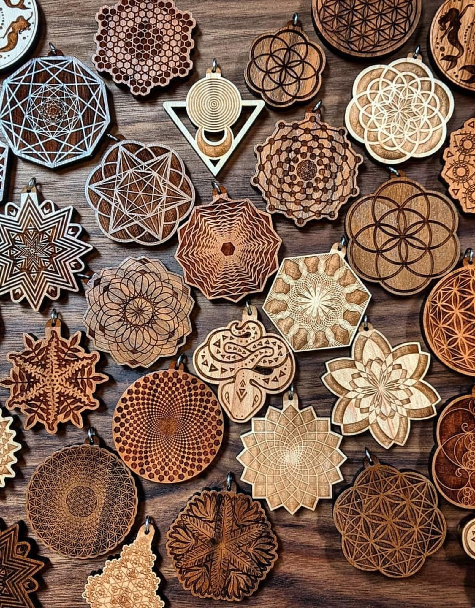 Laser Tree Hardwood Pendant