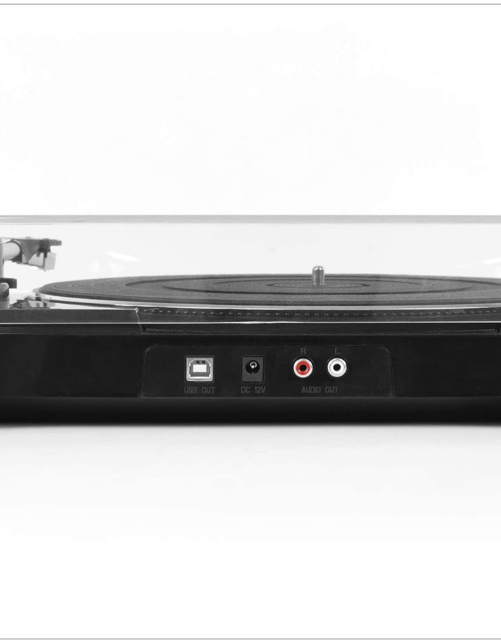 Victrola VPRO-3100-BLK Professional Series USB Turntable FullyAutomatic 2 Speed Belt Drive (Black)
