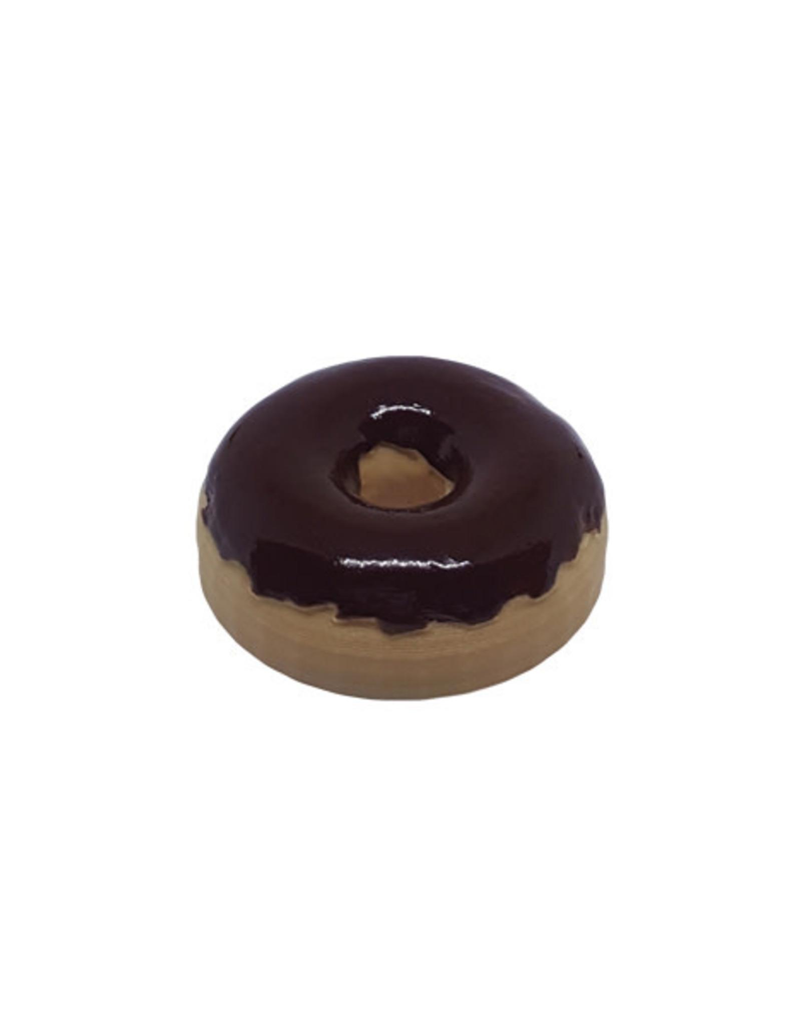45 adapter donut chocolate glaze