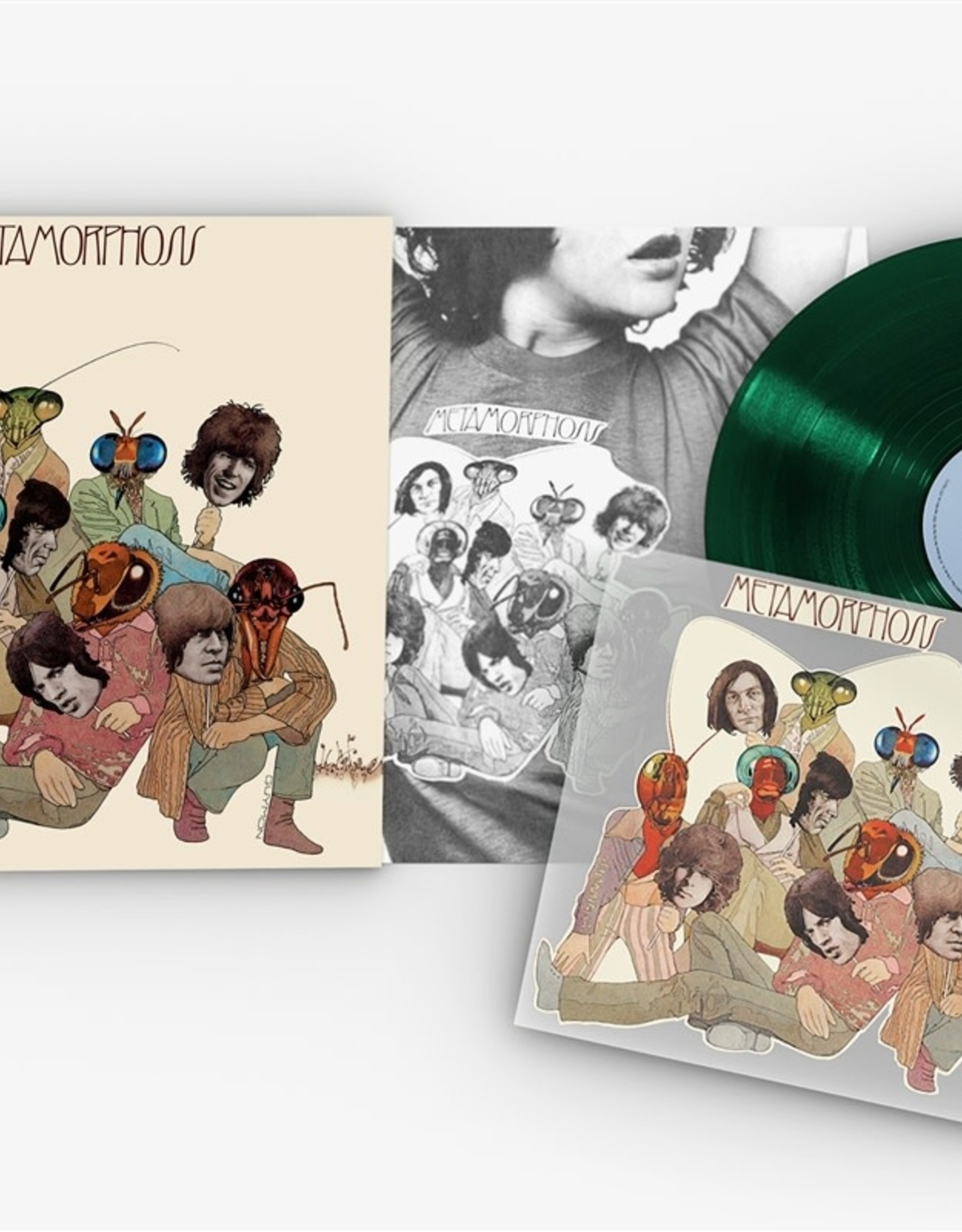 Rolling Stones - Metamorphosis Uk (Special Edition) (Hunter Green Vinyl/Full Color Exclusive Iron On Cover Art)  (RSD 2020)