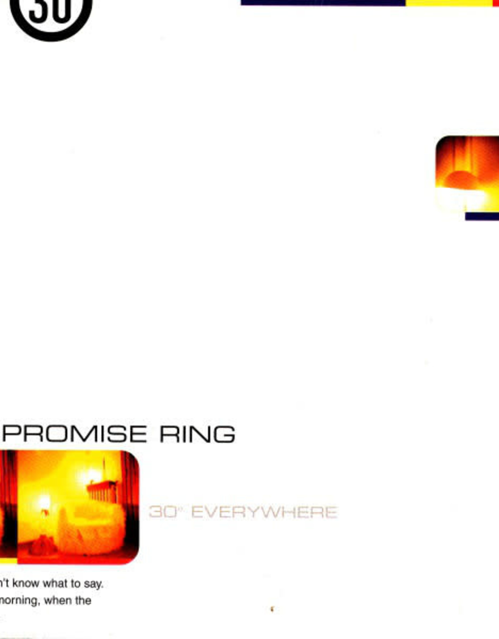 The Promise Ring - 30 Degrees Everywhere (Clear Vinyl)