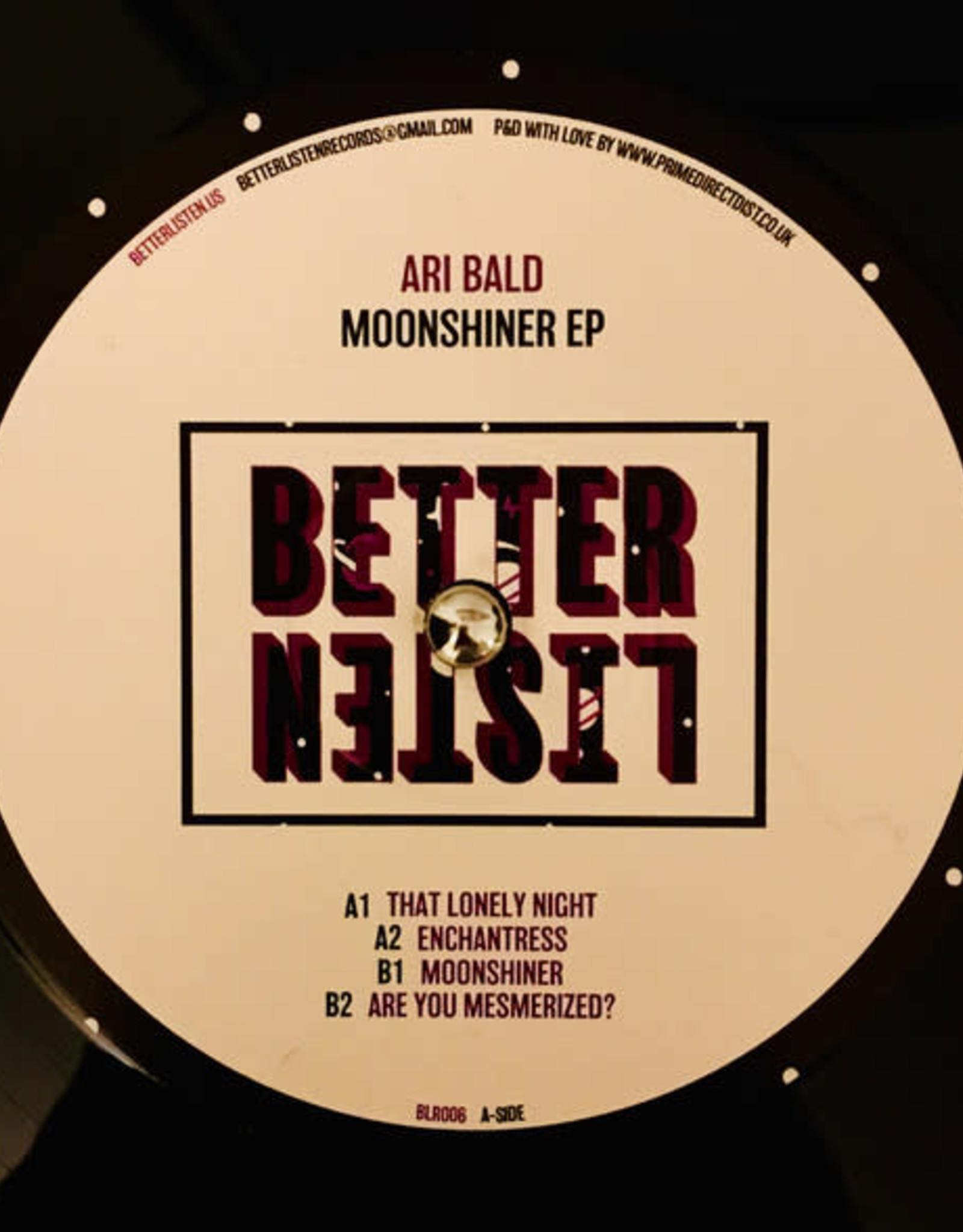 """Better Listen 6 - Ari Bald - Moonshiner Ep (12"""", Ep)"""