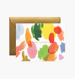 CARTE DE SOUHAITS HAPPY BIRTHDAY ART PALETTE
