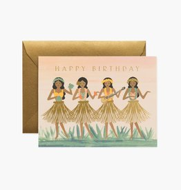 CARTE DE SOUHAITS HAPPY BIRTHDAY HULA BIRTHDAY