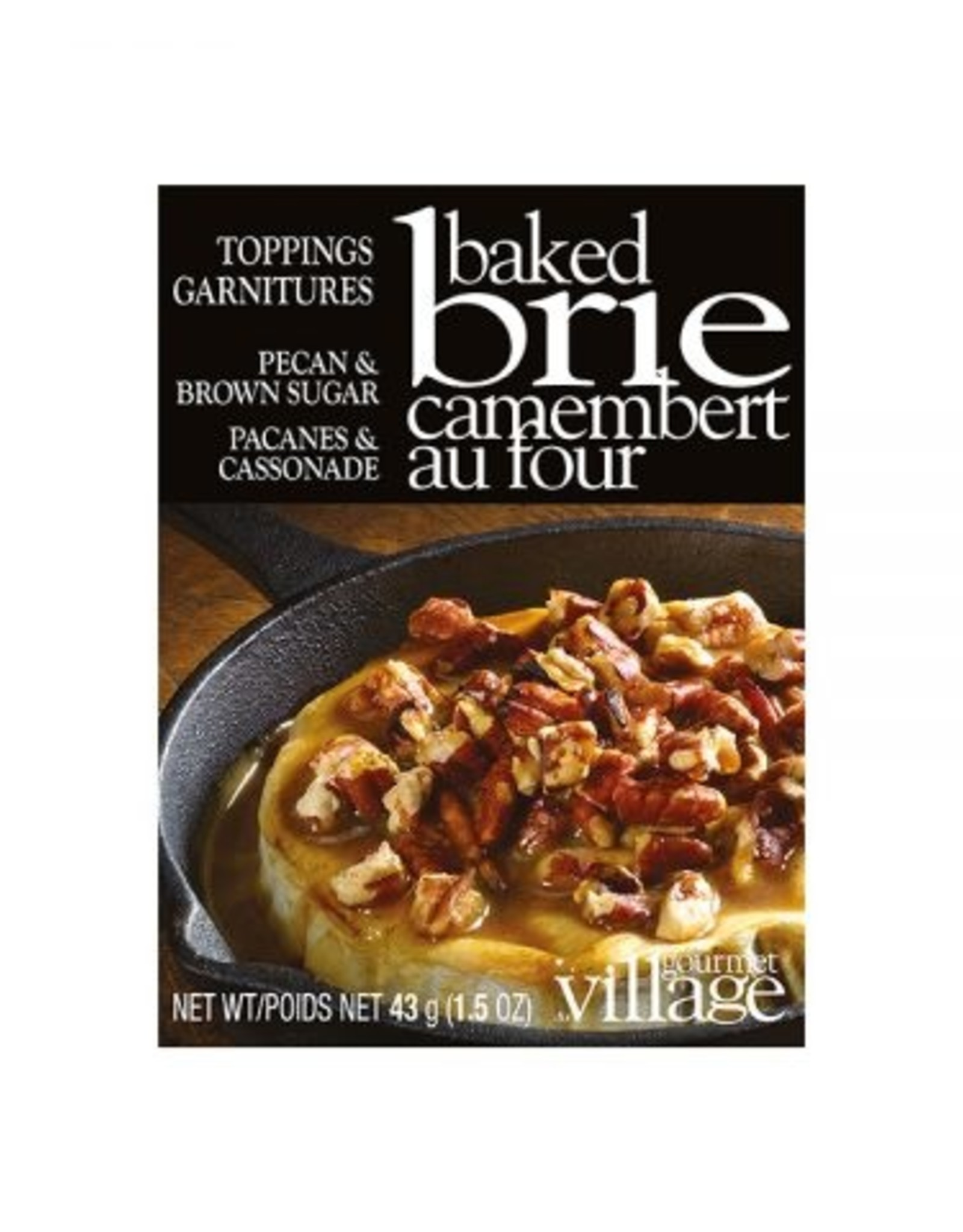 GARNITURES POUR BRIE AU FOUR PACANES & CASSONADE