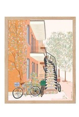 AFFICHE : MONTREAL AUTOMNALE BICYCLETTE 8x10