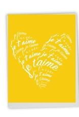 CARTES DE SOUHAITS : JE T'AIME COEUR