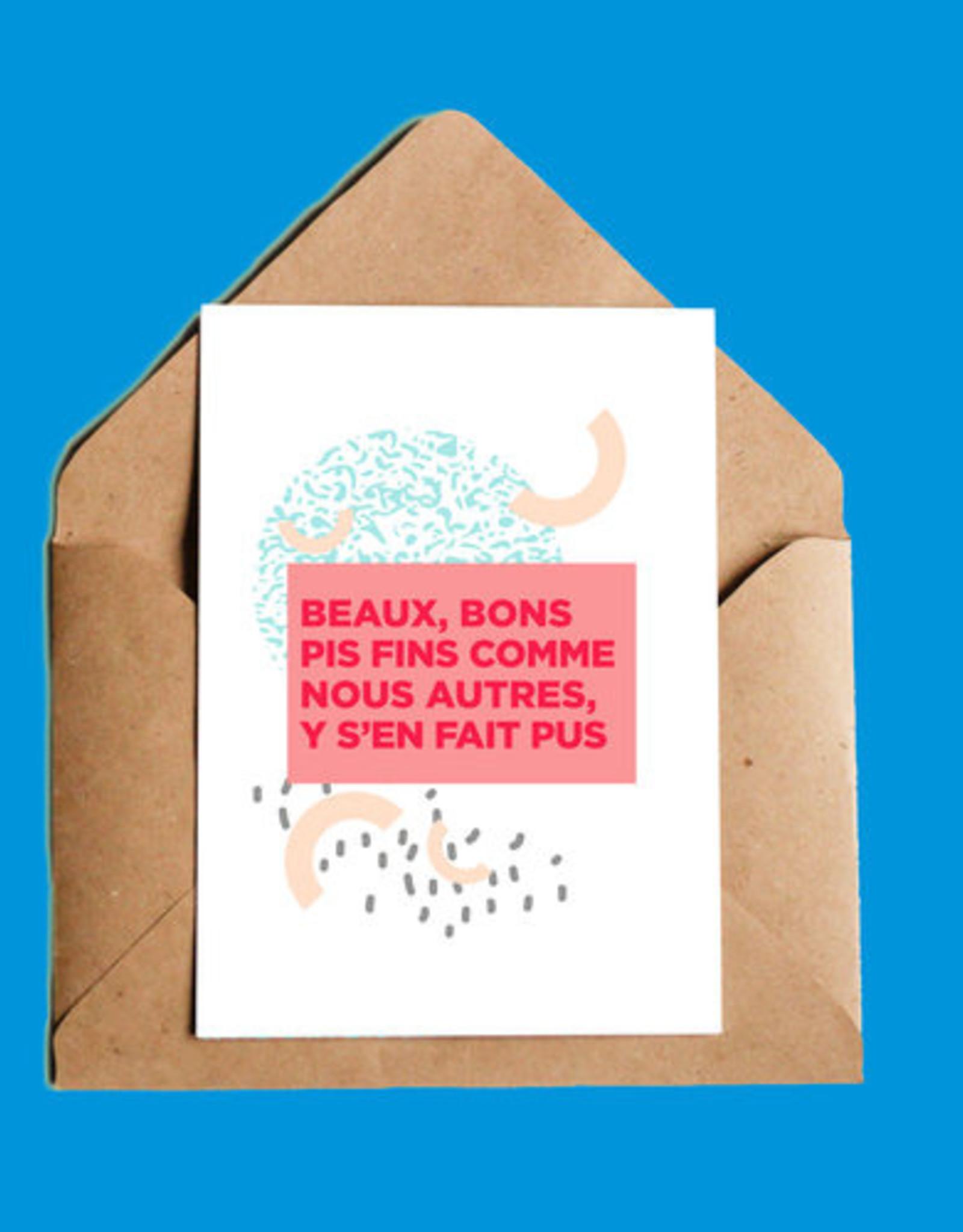 CARTE DE SOUHAITS BEAUX, BONS PIS FINS ...