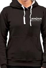 CHANDAIL À CAPUCHON POUR FEMME BONJOUR MONTRÉAL