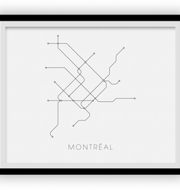 AFFICHE MONTREAL SUBWAY : 8X10
