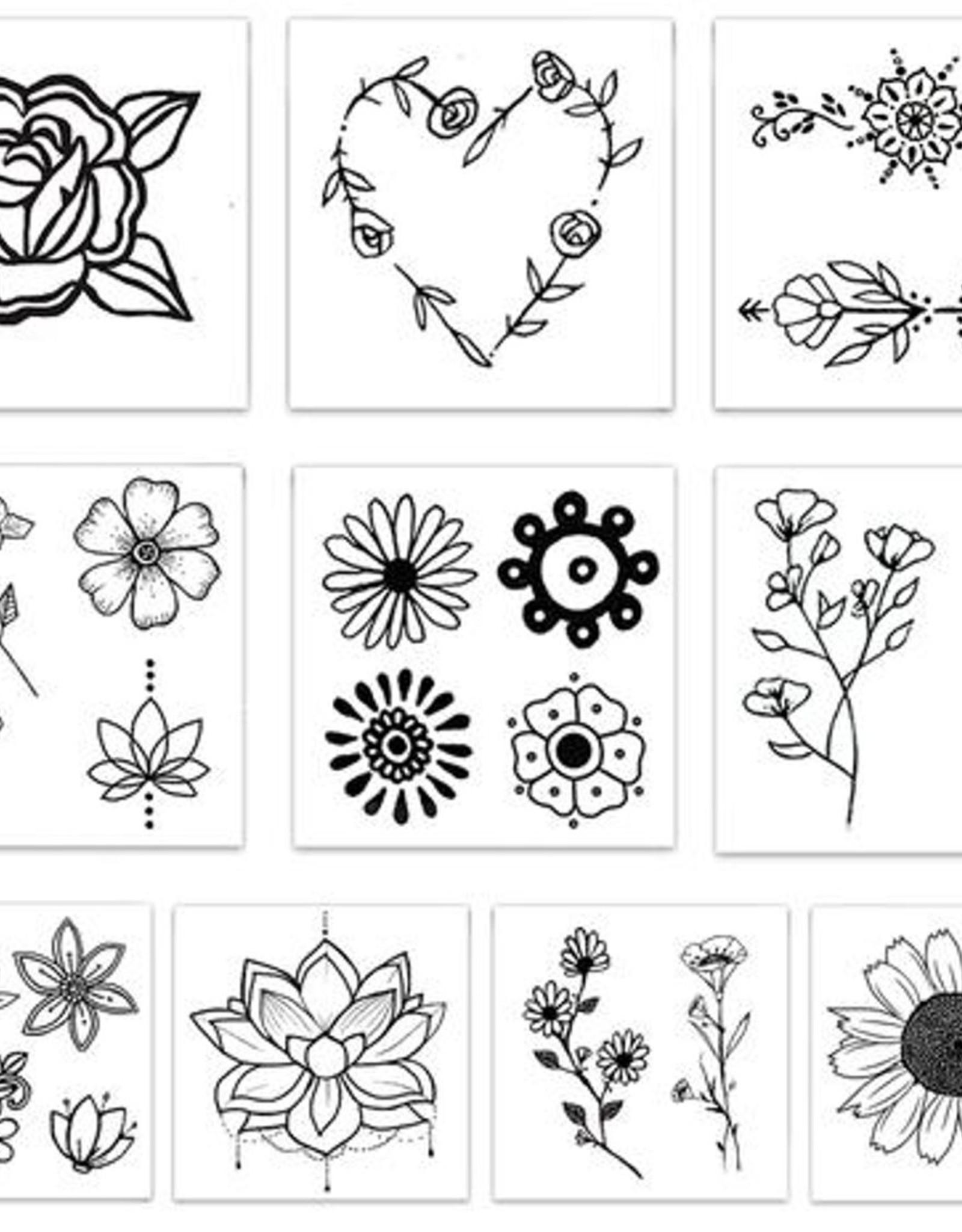 TATOUAGES TEMPORAIRES : FLOWER CHILD
