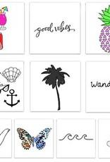 TATOUAGES TEMPORAIRES : BEACH BUM