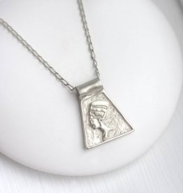 COLLIER NEFERTITI ARGENT