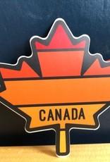 AUTOCOLLANT : FEUILLE ÉRABLE CANADA